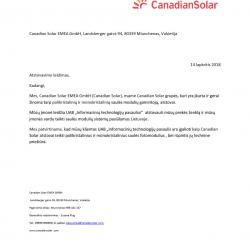 CanadianSolar partnership